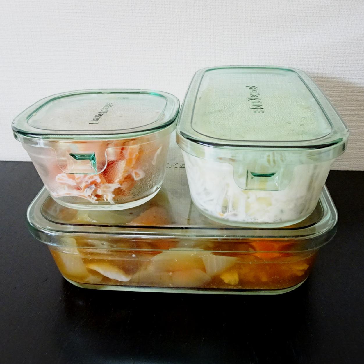 耐熱ガラス容器で作り置きおかず!iwakiのパック&レンジは調理も保存容器としても優秀♪